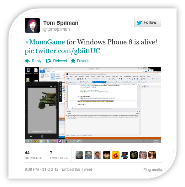 Creating a Windows 8 Store Game with MonoGame (XAML) and SignalR